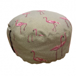 Joga zafu jastuk okrugli veliki za meditaciju flamingo šara