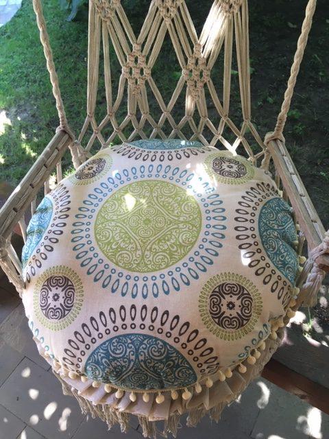 Joga zafu jastuk za meditaciju veliki sa mandala printom