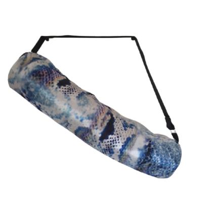 Torba za jogu od impregniranog platna tri boje plavo