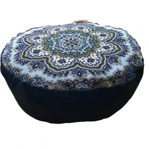 Joga zafu ovalni jastuk mandala print za meditaciju