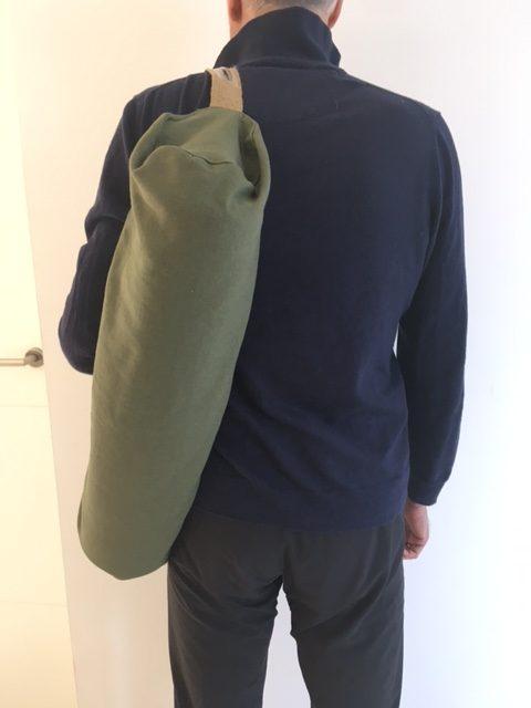 Joga torba od pamuka postavljena maslinastozelena