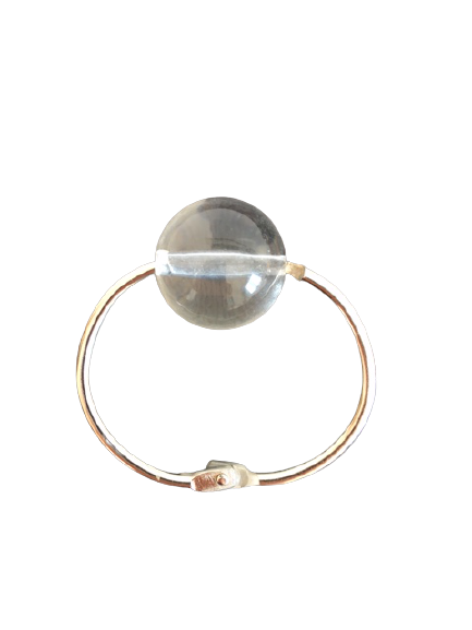 Prsten za salvete providna staklena perla Kap rose