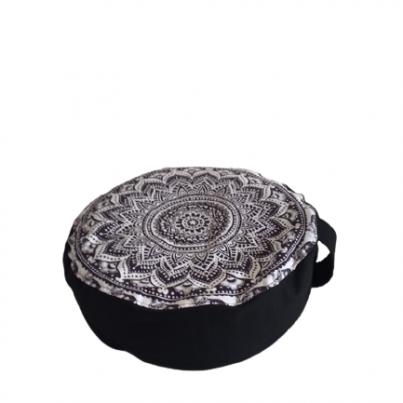 Joga jastuk za meditaciju punjen heljdinim ljuspicama mandala